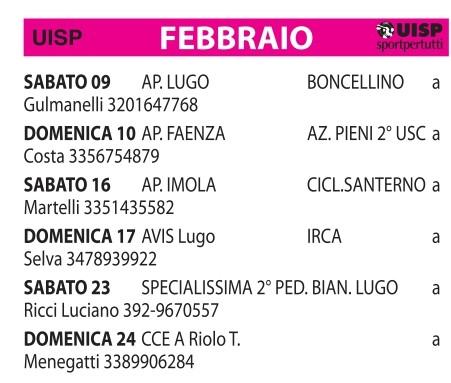 Usc Calendario.Calendario 2019 Generale Usccastelbolognese